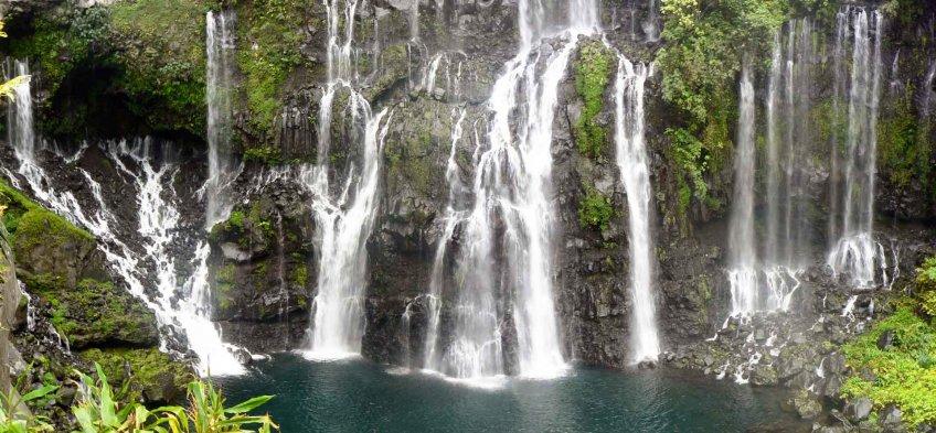 Le Trou noir sur la Rivière Langevin, île de la Réunion