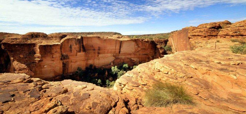 Randonnée pédestre au Kings Canyon en Australie