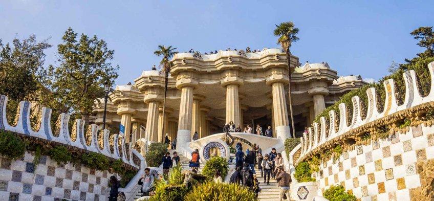 Le Park Güell à Barcelone